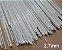 Varetas de fibra para Gaiolas, Pipas e Artesanato em geral, 2,7 mm - Branco Pacote com 1 Kg - Imagem 1