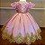 Vestido de Luxo Rosa com Dourado - Infantil - Imagem 1