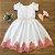 Vestido Branco com Salmão -Daminha de Honra  - Imagem 1
