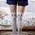 Meia 5/8 Luna de Sailor Moon - Branca & Preta - Imagem 6