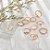 Conjunto de Anéis Dourados MYWAY - Imagem 8