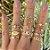 Conjunto de Anéis Dourados MYWAY - Imagem 1