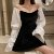 Vestido de Veludo MANGA BUFANTE - Imagem 1