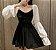 Vestido de Veludo MANGA BUFANTE - Imagem 2