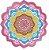 Canga redonda de microfibra com estampa de mandala - Imagem 9