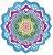Canga redonda de microfibra com estampa de mandala - Imagem 10