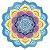 Canga redonda de microfibra com estampa de mandala - Imagem 11