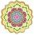 Canga redonda de microfibra com estampa de mandala - Imagem 7