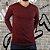 Camiseta Masculina Slim Fit GOLA V Manga Longa - 100% Algodão - 6 Cores - Imagem 2