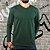KIT 4 Camiseta Masculina Slim Fit GOLA V Manga Longa - 100% Algodão (1 Verde, 1 Preta, 1 Branca, 1 Azul) - Imagem 4