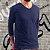 KIT 4 Camiseta Masculina Slim Fit GOLA V Manga Longa - 100% Algodão (1 Branca, 1 Preta, 1 Cinza, 1 Azul) - Imagem 11