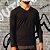 KIT 4 Camiseta Masculina Slim Fit GOLA V Manga Longa - 100% Algodão (1 Branca, 1 Preta, 1 Cinza, 1 Azul) - Imagem 4