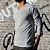 KIT 4 Camiseta Masculina Slim Fit GOLA V Manga Longa - 100% Algodão (1 Branca, 1 Preta, 1 Cinza, 1 Azul) - Imagem 2
