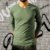 KIT 4 Camiseta Masculina Slim Fit GOLA V Manga Longa - 100% Algodão (1 Branca, 1 Preta, 1 Cinza, 1 Azul) - Imagem 5
