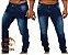 Calça Jeans Masculina Destroyer Fino  Skinny Elastano - Azul - Imagem 1
