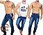Calça Jeans Masculina Slim Skinny Lycra Elastano - Azul Escuro - Imagem 1