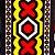 Turbante em tecido africano  Samakaka- Angola - Imagem 2