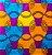 Turbante em tecido africano - Catumbela Colorido - Imagem 2