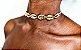 Gargantilha Choker de Búzios dourada - Imagem 3