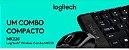Kit Logitech Teclado e Mouse Wireless MK220 Preto - Imagem 3
