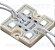 MODULO 4 LED COM LENTE IP67 12V 2W Branco Frio - Imagem 1