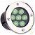 Spot Balizador LED 7W Embutir Para chão Jardim e Piso Verde IP67 A Prova D'Agua  - Imagem 1