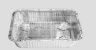 Bandeja  Alumínio Tampa Transparente D5 Wyda  1150ml C/10 - Imagem 1