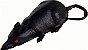 Enfeite Rato Preto Pequeno Halloween - Imagem 1