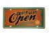 Placa Metal Come in We Are Open - Imagem 1