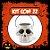 Balde Esqueleto / Caveira Halloween Pequeno Kit Branco C/22 - Imagem 1