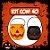 Balde Abóbora Halloween Pequeno | Kit Misto C/40 - Imagem 1