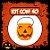 Balde Abóbora Halloween Pequeno | Kit Laranja C/40 - Imagem 1
