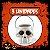 Balde Esqueleto / Caveira Halloween Branco Grande | Kit C/3 - Imagem 1