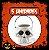 Balde Esqueleto / Caveira Halloween Branco Pequeno | Kit C/5 - Imagem 1
