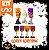 Kit Taça Halloween Grande e Média | Cores Sortidas | C/10 - Imagem 1
