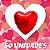 50un. Balão Coração Metalizado | Diversas Cores  - Imagem 1