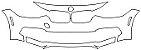"""Película ClearShield de Proteção de Pintura Transparente Super Brilho """"Parachoque Dianteiro/Faróis Dianteiro"""" BMW 320 Ano 2017 - Imagem 1"""