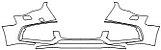 """Película ClearShield de Proteção de Pintura Transparente Super Brilho """"Parachoque Dianteiro"""" Audi A5 Ano 2011/2018 - Imagem 1"""
