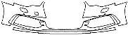 """Película ClearShield de Proteção de Pintura Transparente Super Brilho """"Parachoque Dianteiro"""" Audi A6 Sedan Ano 2011/2018 - Imagem 1"""