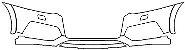 """Película ClearShield de Proteção de Pintura Transparente Super Brilho """"Parachoque Dianteiro"""" Audi Q3 Ano 2010/2018 - Imagem 1"""