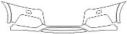 """Película ClearShield de Proteção de Pintura Transparente Super Brilho """"Parachoque Dianteiro"""" Audi RS Q3 Ano 2011/2018 - Imagem 1"""