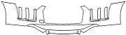 """Película ClearShield de Proteção de Pintura Transparente Super Brilho """"Parachoque Dianteiro"""" Audi R8 Ano 2011/2018 - Imagem 1"""