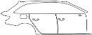 """Película ClearShield de Proteção de Pintura Transparente Super Brilho """"Kit Portas lado Direito/Paralama traseiro Direito"""" Audi A4 Avant Ano 2011/2018 - Imagem 1"""