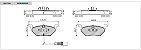 Jogo pastilhas Dianteiras Cerâmica Bosch Volkswagen Jetta 2.0 2010 até 2016 - Ver medidas - Imagem 2
