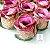 100 Forminhas para doces Flor Botão Rosa Vinho com Dourado - F043 - Imagem 1
