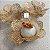 50 Forminhas Flor 4 Coracoes Dourado- F056 - Imagem 3
