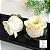 25 Forminhas para doces Flor Botão Rosa - Amarelo BB com Pérola - F058 - Imagem 1