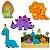 Decoração de Mesa Baby Dino com 06 unidades - Imagem 1