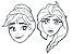 Máscara de Pintar Frozen II com 06 unidades  - Imagem 1