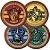Prato redondo Harry Potter com 08 unidades - Imagem 1